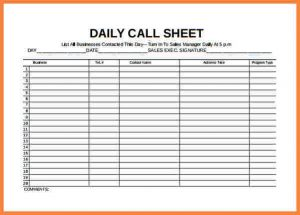 daily planner template excel sales call log spreadsheet daily call sheet free pdf template download