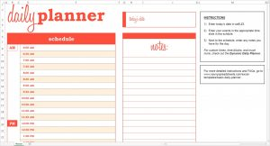 daily schedule planner basic daily planner excel template savvy spreadsheets