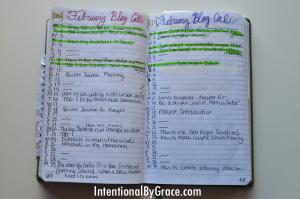 daily schedule planner bullet journal blog editorial calendar spread