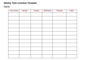 daily schedule planner weekly task list template word