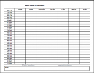 daily task list template daily hourly schedule weekly hourly planner