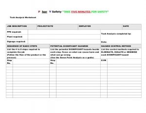 daily task list template site specific safety plan master