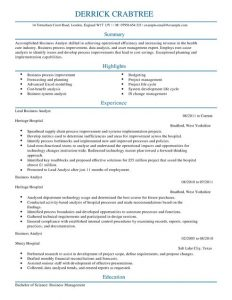 Data Analyst Resume | Template Business