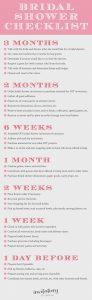 day of wedding checklist bridalshowerchecklist