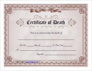 death certificates templates death certificate template free download pdf