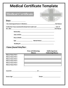 death certificates templates medical certificate template