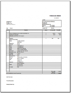 delivery order template purchase order format in excel for companies
