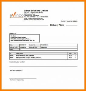 delivery receipt template delivery note sample letter courier delivery note example template free download