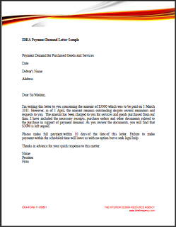 Sample Demand Letter Template For Money Owed on