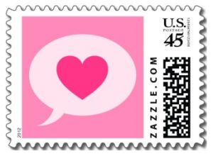 dental business cards cute pink heart in speech bubble love or valentines day postage stamp x