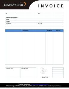 deposit receipt template rental invoice template rental invoice ldjhcr