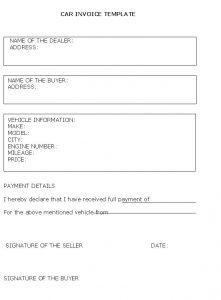 deposit receipt template vehicle sale invoice template free business template in vehicle sales receipt template