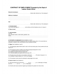 dept collection letter contract of employment template prpfann