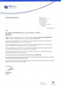 dept collection letter rsm tenon