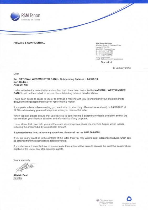 dept collection letter