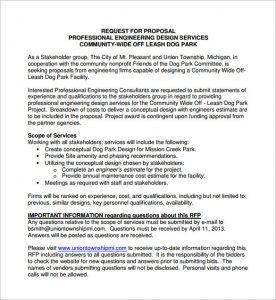 design proposal template engineering design proposal pdf download