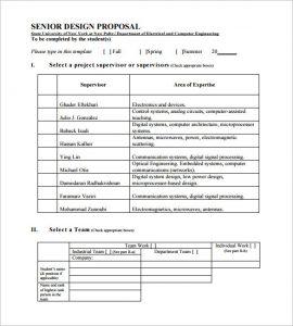 design proposal template senior design proposal pdf download