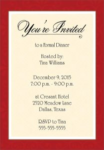 dinner invitation template dinner party invitation template word