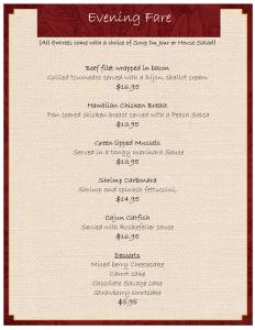 dinner menu template dinner menu template jezptupu