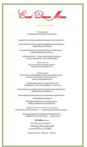 dinner menu template holiday dinner menu template