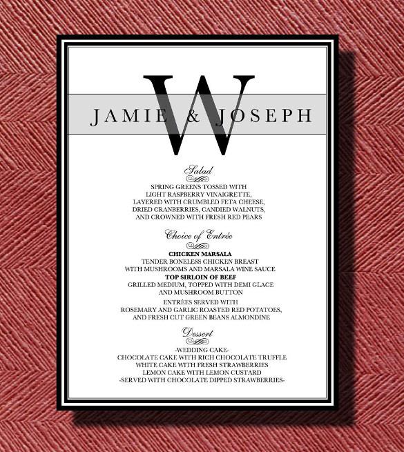 dinner menu template