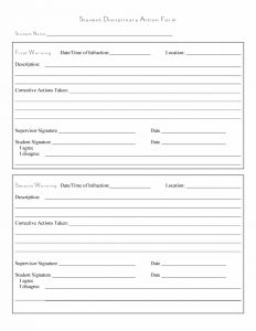 disciplinary action form template employee write up form