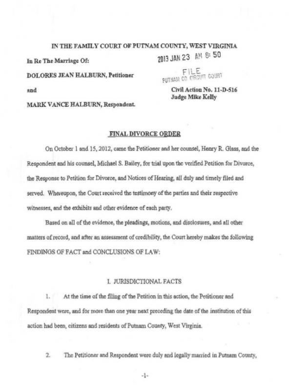 divorce agreement sample