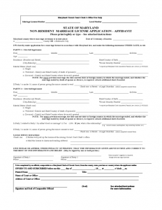 divorce settlement agreement template non resident marriage license or certificate application form maryland l