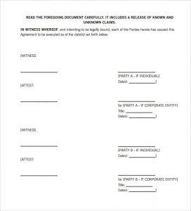 divorce settlement agreement template settlement agreement template free