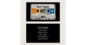 dj business card old cassette dj business card radadcafbdbeddead kcu