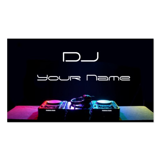 dj business cards