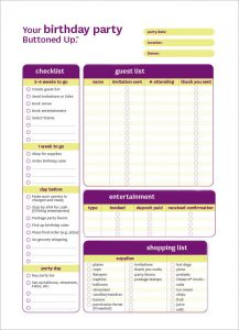 dj contract templates free printable birthday party checklist form template