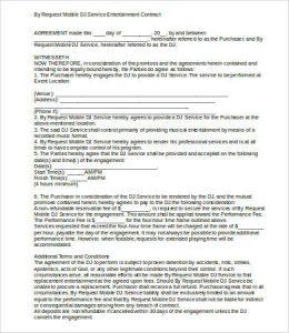 dj contract templates resident dj contract sample