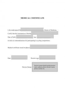 doctor excuse template etape du tour medical certificate