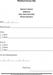 doctor excuses forms sample blank doctors note for missing work excuse