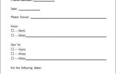 doctors excuse for work doctors note for work template