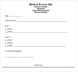 doctors excuse for work pdf doctors excuse template free