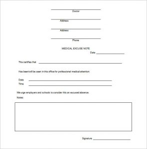 doctors excuse for work pdf example doctors excuse note for work free download