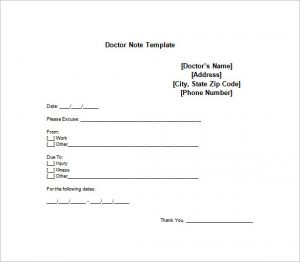 doctors note for work doctor note for employe work free word format
