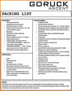 doctors note template for work army packing list form ascentpackinglist