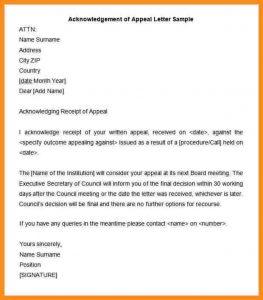 donation acknowledgement letter acknowledge receipt letter sample acknowledgement of appeal letter sample min