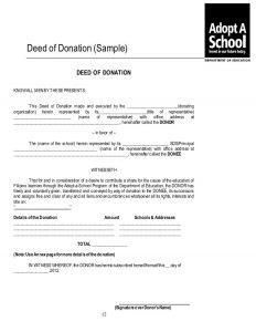 donation acknowledgement letter adoptaschool program kit