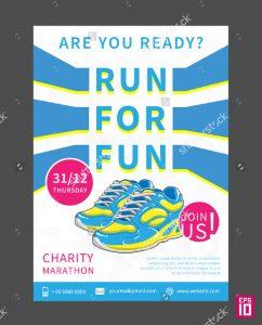 donation flyer template charity marathon flyer template