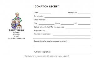 donation receipt template charitable donation receipt template