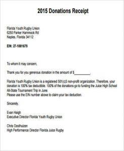 donation request letter for non profit non profit donation receipt letter sample