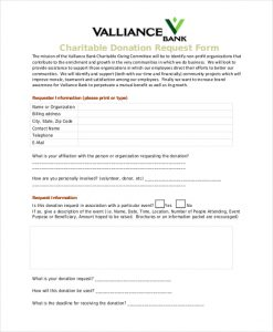 donation request letter template charitable donation request form