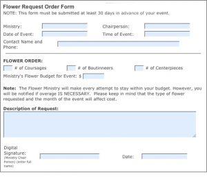 donation request template printforms flower request