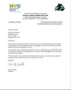 donation thank you letter donation thank you letter bjj