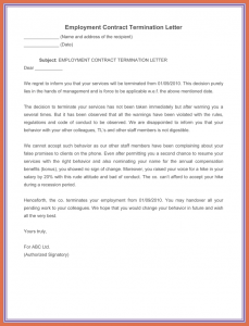 donation thank you letter template sample termination letter without cause employment contract termination letter