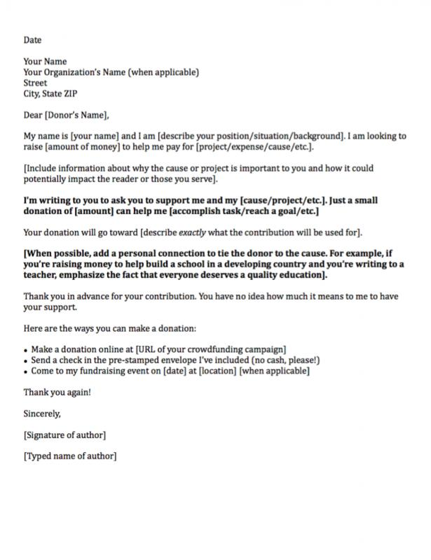 donations letter example